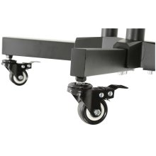 Freestanding Portable TV Trolley with Adjustable Shelf
