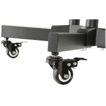 Freestanding Portable TV Trolley with Adjustable Shelf
