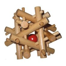 2 PCS Challenging Wood Brain Teaser Puzzle Disentanglement Puzzles, Style 13