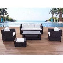 Contemporary Outdoor Sofa Set - Resin Wicker Patio Furniture - ROMA
