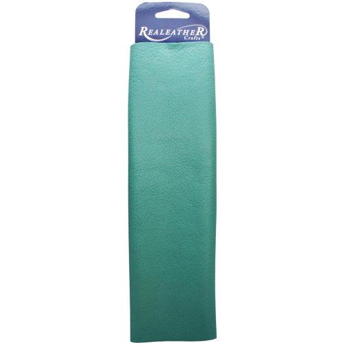 "Realeather Crafts Leather Premium Trim Piece 8.5""X11""-Turquoise"