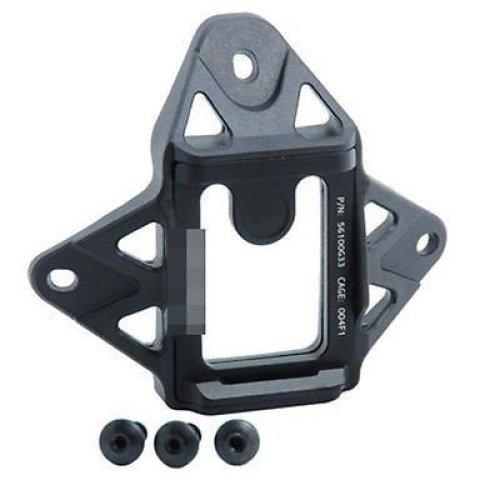 Airsoft Af Core Ops Mich Black Helmet Vas Shroud 3 Hole Mount  Uk  Airframe Style