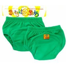 Bright Bots 2pk Washable Training Pants Green