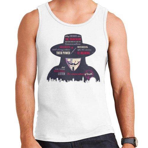 Enunciation Of Truth Quote Hat V For Vendetta Men's Vest
