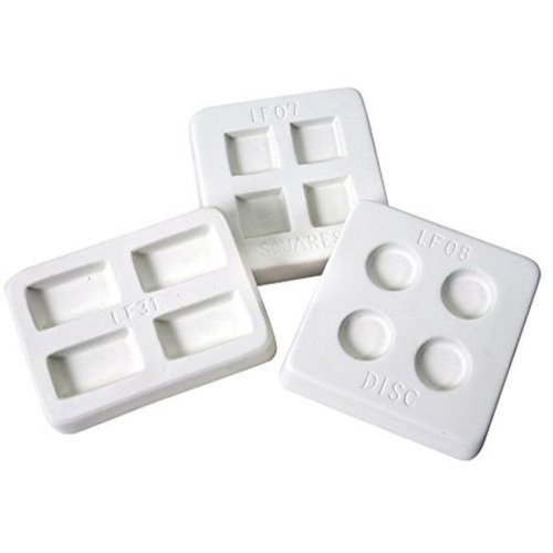 Diamond Tech International 1289925 Amaco Reusable Jewelry Rectangle Frit Casting Mold Set, Set of 3