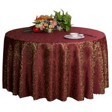 Weddings Banquets Hotels Tabletop Accessories Round Tablecloths 220x220CM (Wine-red)