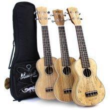 Malani Exotic Series Soprano Ukulele with Aquila Strings + FREE Padded Gig Bag