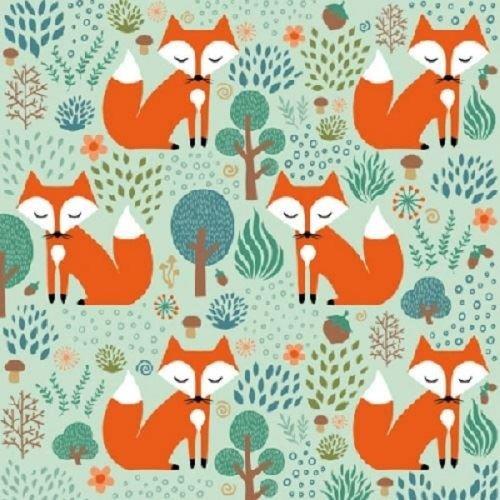 4 x Paper Napkins - Smart Fox - Ideal for Decoupage / Napkin Art