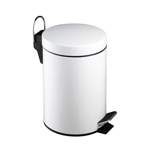 3 Litre Pedal Bin - White