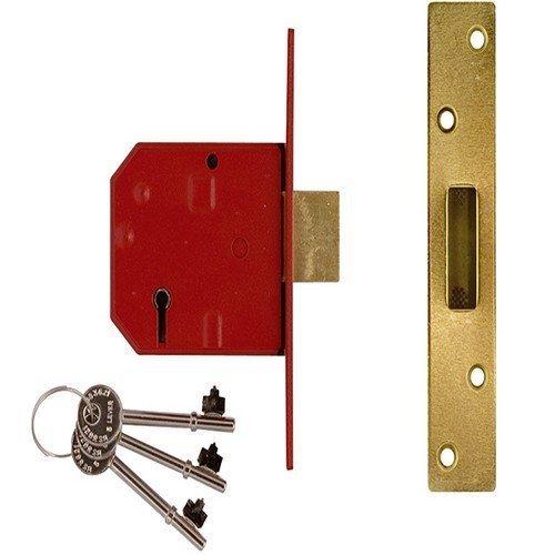 Union Locks 2134E 5 Lever BS Mortice Deadlock 67mm - Satin Chrome Finish (Boxed)