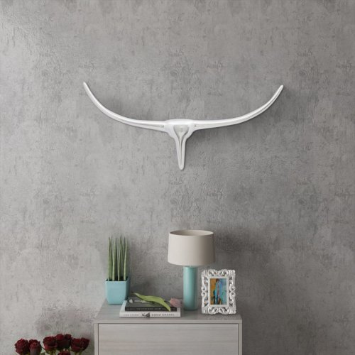 vidaXL Wall Mounted Aluminium Bull's Head Decoration Silver 72cm Decoration