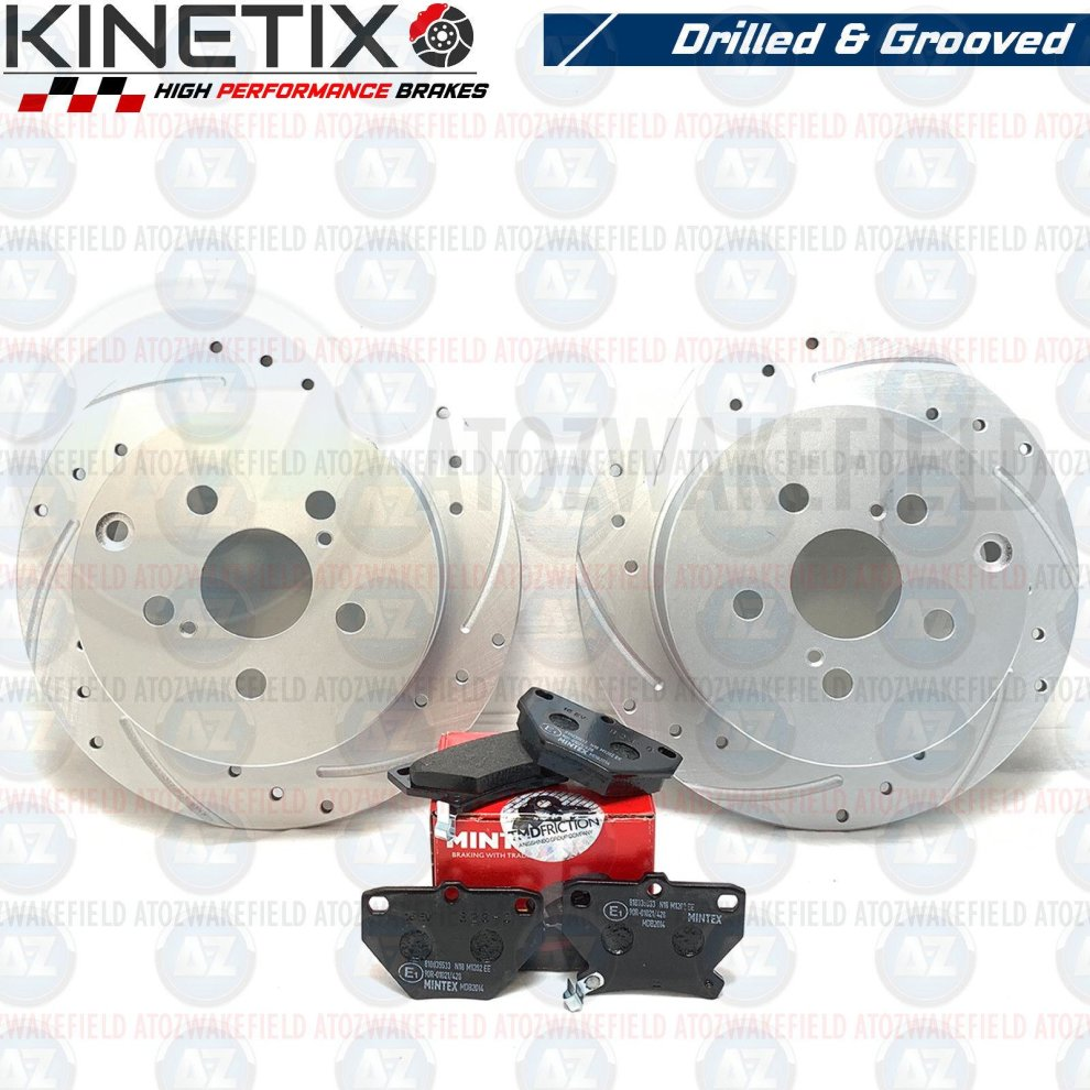 Astra Coupe 2.0 Turbo Rear Sport Grooved Brake Disc Set 264mm