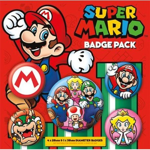 Super Mario - Badge Pack Pin Gift -  badge pack super mario pin gift