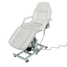 Beauty Salon Massage Chair Bed Electric Adjustable Couch Cream