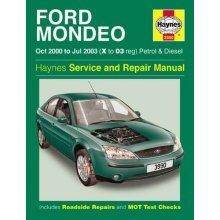 Ford Mondeo Petrol & Diesel (Oct 00 - Jul 03) Haynes Repair Manual: 2000 to 2003 (Haynes Service and Repair Manuals)