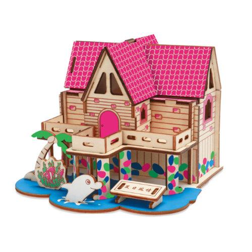 3D Wooden Puzzle Architecture Building Puzzle DIY Toys 2 Pcs #4