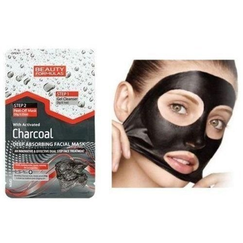 Beauty Formulas Deep Absorbing Facial Mask With Activated Charcoal -
