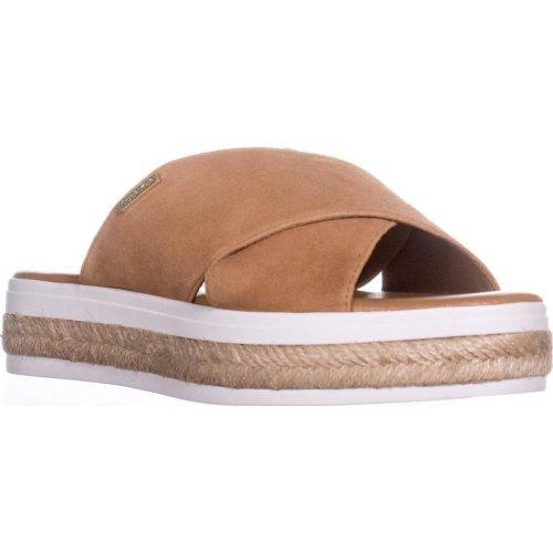 Calvin Klein Jupare Platform Espadrille Sandals, Almond Tan, 6.5 UK