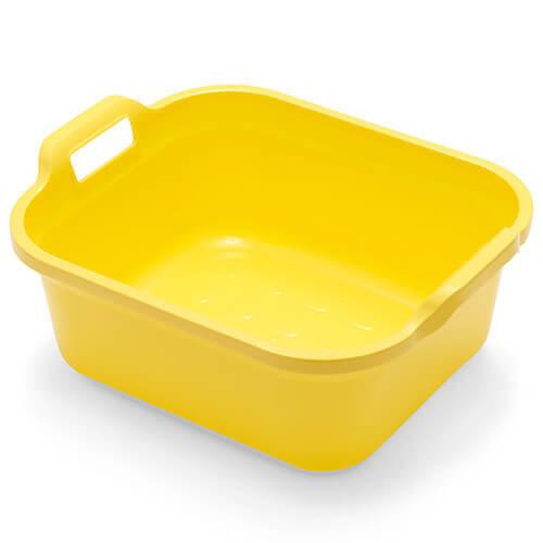 Addis 10 Litre Twin Handled Washing Up Bowl Yellow