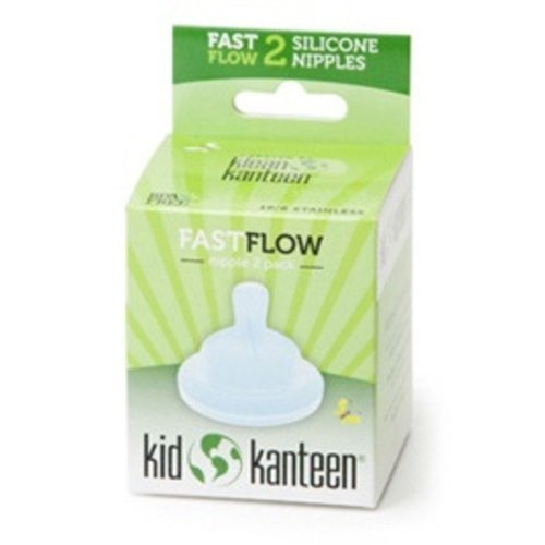 Klean Kanteen Baby Silicone Nipples Clear Pack of 2 (Fast Flow)