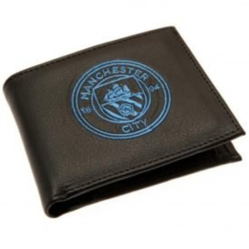 Manchester City Crest Embroidered Wallet - Multi-colour - Football -  football wallet official manchester city embroidered club crest gift