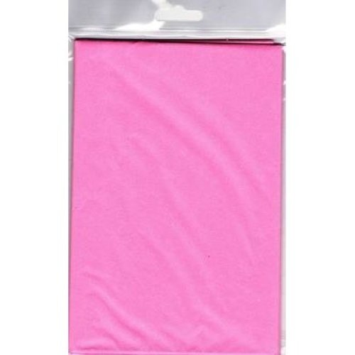 5 Sheets Of Pink Tissue Paper 750mm x 500mm