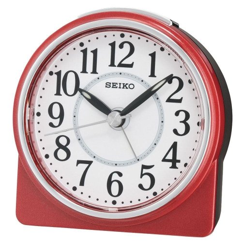Seiko Beep Alarm Clock with Snooze - Red (QHE137R)