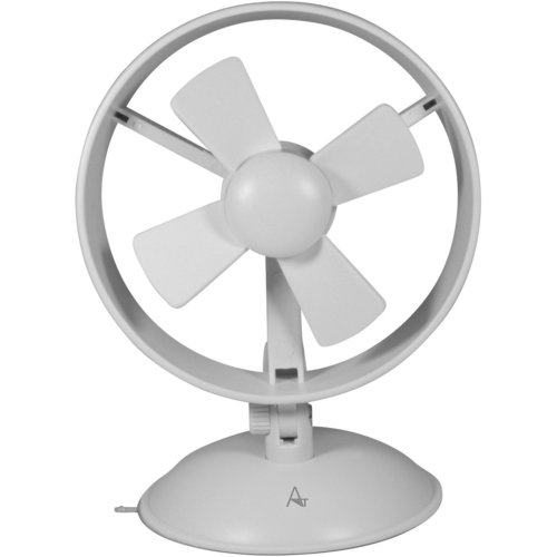 AntilaTech USB Powered Quiet 2-Speed Personal Desktop Mini Fan with Suction Cup in Base for Fixing on Vertical Surfaces, EVA Blades and Portable...