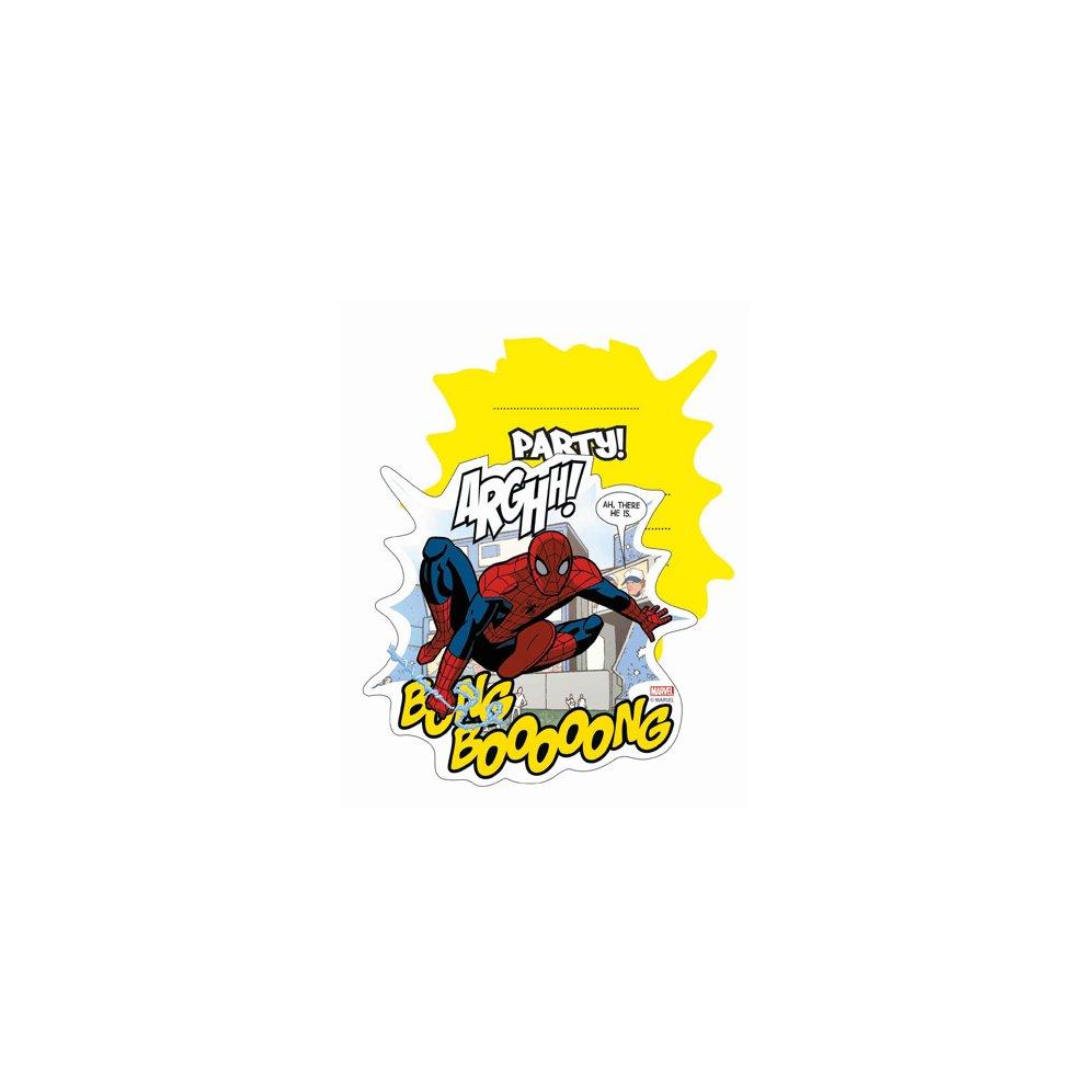 Unique Party 6 Ultimate Spiderman Art Invites & Envelopes - Birthday ...