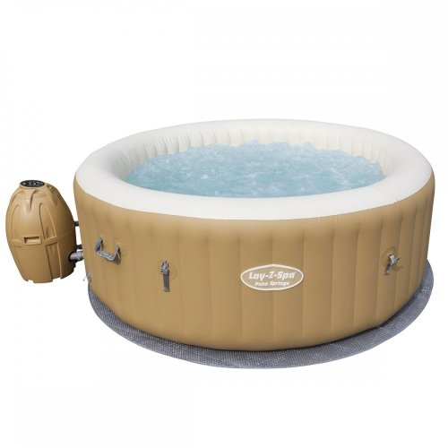 Bestway Lay-Z-Spa Palm Springs AirJet Inflatable Hot Tub Rapid Heating System Inflates Using Spa's Pump With Digital Control Panel