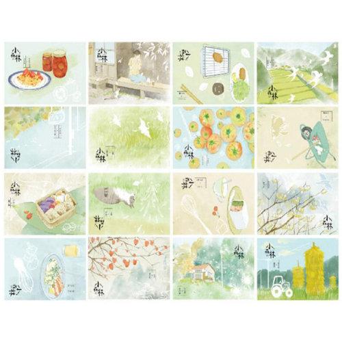 30 PCS 1 Set Beautiful Luminous Greeting Postcards Blessing Cards, No.4