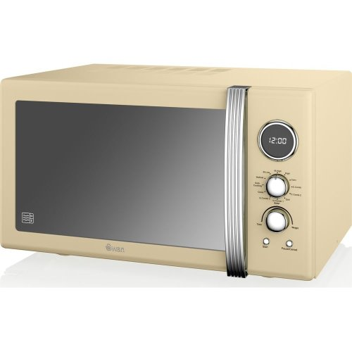 SWAN SM22080CN Retro Microwave with Grill - Cream, Cream