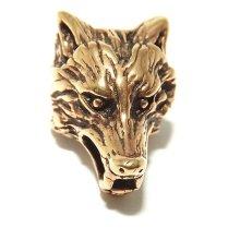 Wolf Bronze Viking / Celtic Beard Bead Ring (9mm)