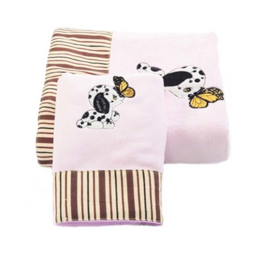 Cartoon Dog Baby Strong Absorbent Bath Towels Sets(Multicolor)