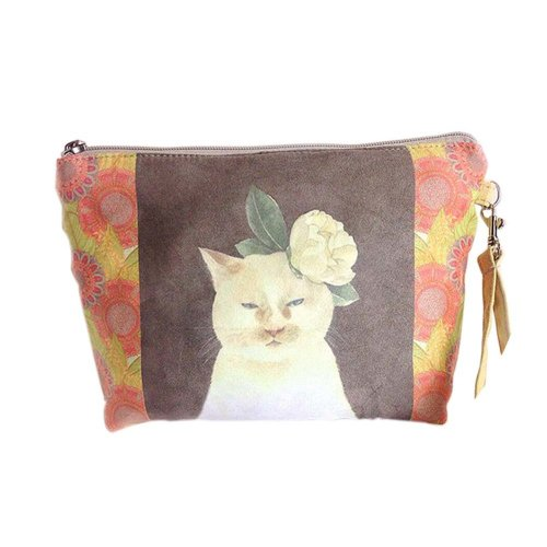 Lovely And Handsome Cat Canvas Cosmetic Bags/Purse