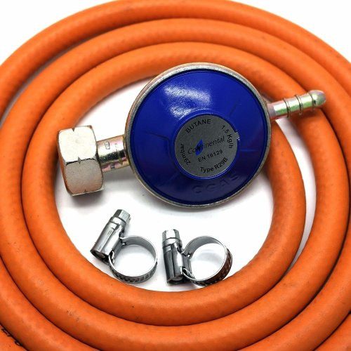 4 5Kg Butane Gas Regulator With 1M Hose + 2 Clips Fits Calor Gas 4 5Kg  Cylinders