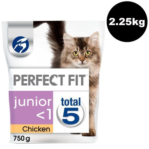 Perfect Fit Cat Complete Dry Junior <1 Chicken 3x750g