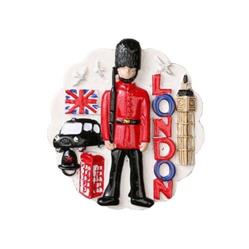1 PCS Resin Fridge Magnet Kitchen Refrigerator Magnet Britain Series - 02
