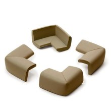 Prince Lionheart Cushiony Corner Guards Chocolate - Guard 4 Corners Safety - Prince Lionheart Cushiony Corner Guard 4 Corners Safety Chocolate Colour