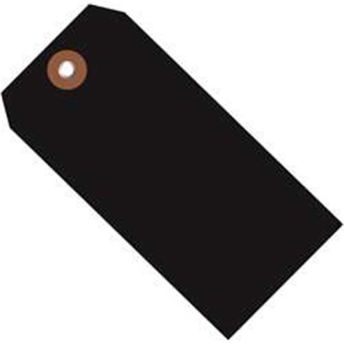 Box Partners G26058 6.25 x 3.12 in. Black Plastic Shipping Tags - Pack of 100