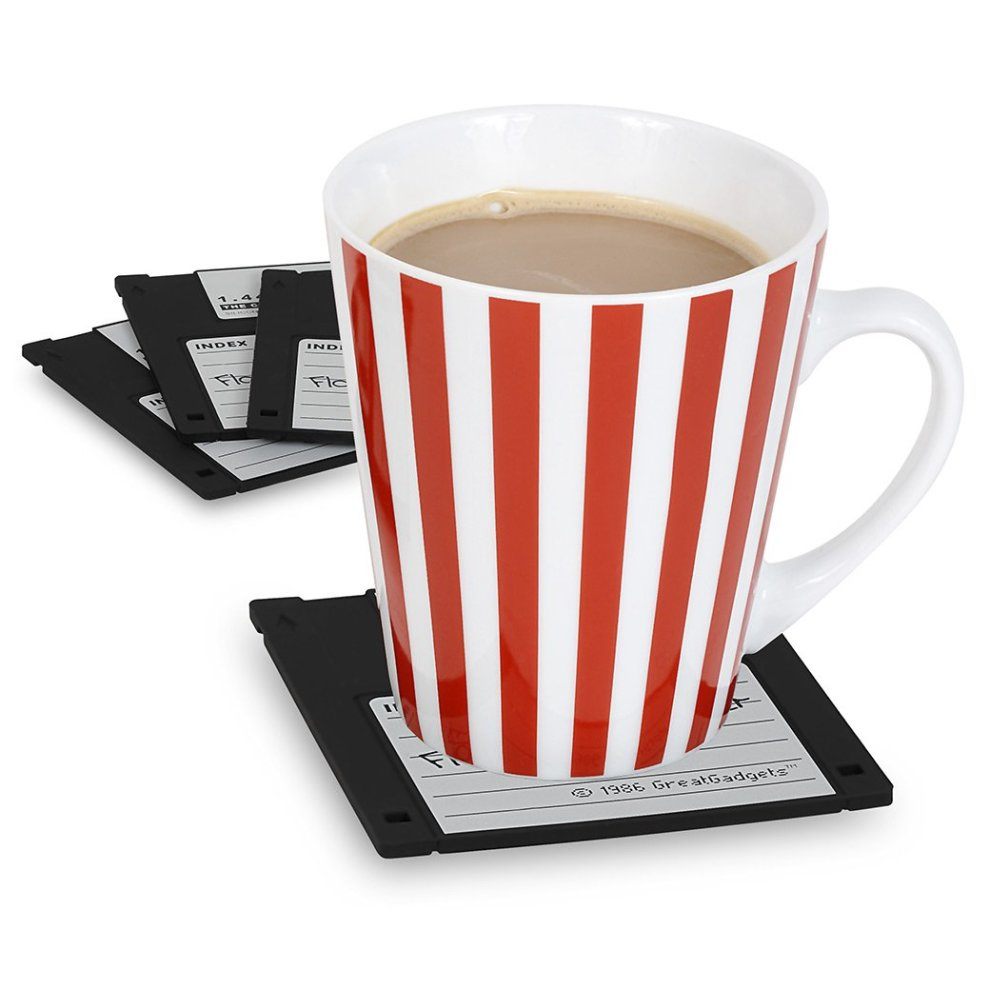 Set of 4 colours GreatGadgets 1889-2 Floppy Coasters