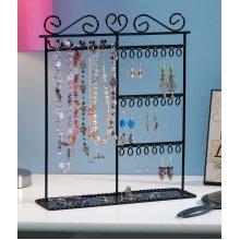 "Metal Jewelry Display Stand 12""X3.5""X14""-Black"