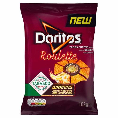 Doritos Roulette Tabasco Tortilla Chips Sharing Bag, 12 x 162 g