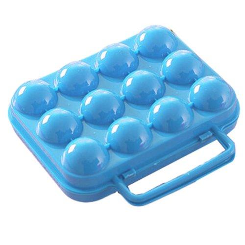 12 Pockets Outdoor Picnic Egg Storage Boxes Portable Eggs Cartons Eggs Tray