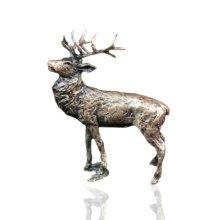 Bronze Stag Figure - Butler & Peach - 2050.