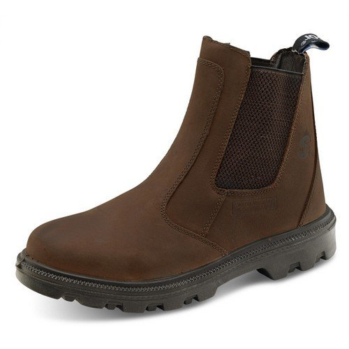 d9d2bd4d437 Click SDB06 Sherpa Safety Dealer Boot With Steel Toecap and Midsole Brown  Size 6