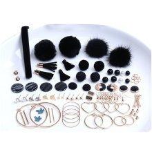 Black Earring Making Materials Kit for DIY Earrings