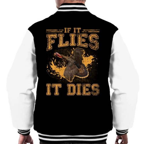 If It Flies It Dies Men's Varsity Jacket