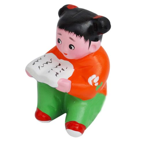 2Pcs Personalized Doll Toys Clay Ornaments Chinese Clay Doll