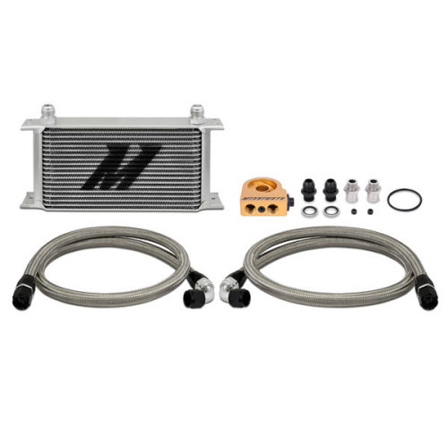 Mishimoto MMOC-ULT Universal Oil Cooler Kit, 19-Row, Silver Thermostatic